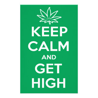 Keep Calm And Get High Customized Stationery