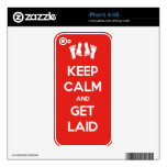 Keep Calm and Get Laid iPhone 4 Decals