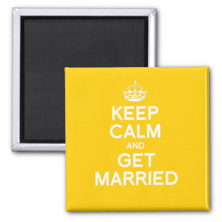 KEEP CALM AND GET MARRIED 2 INCH SQUARE MAGNET