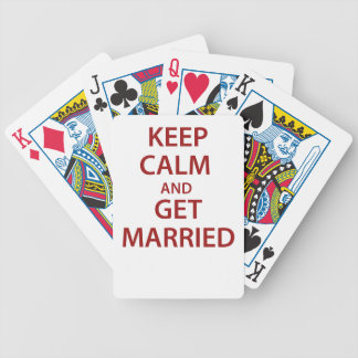 Keep Calm and Get Married Bicycle Playing Cards