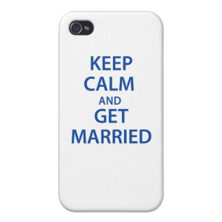 Keep Calm and Get Married! Cover For iPhone 4