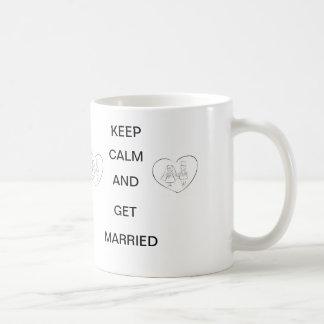 Keep calm and get married mug