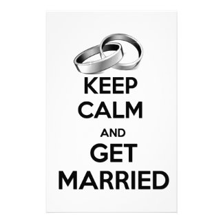 Keep Calm and Get Married Custom Stationery