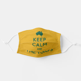 Keep Calm and Get On The Turps Australian Cloth Face Mask