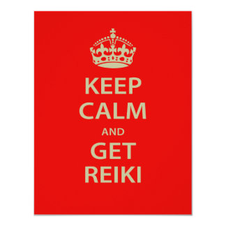 Keep Calm and Get Reiki 4.25x5.5 Paper Invitation Card