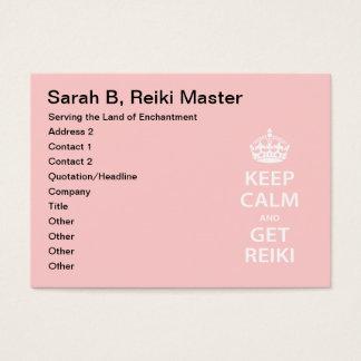 Keep Calm and Get Reiki Business Card