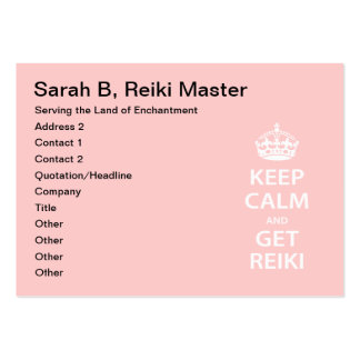 Keep Calm and Get Reiki Large Business Cards (Pack Of 100)