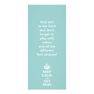 Keep Calm and Get Reiki Rack Card