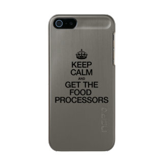 KEEP CALM AND GET THE FOOD PROCESSORS INCIPIO FEATHER® SHINE iPhone 5 CASE