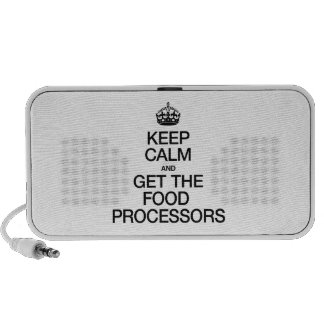 KEEP CALM AND GET THE FOOD PROCESSORS MP3 SPEAKERS