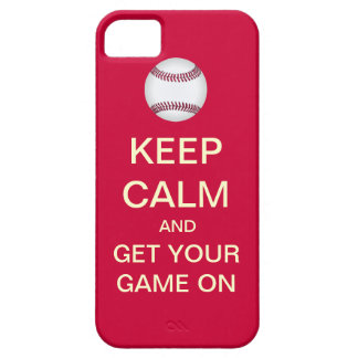 KEEP CALM And Get Your GAME On iPhone 5 Case