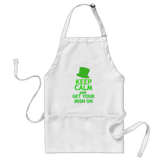 Keep Calm and Get Your Irish On Adult Apron