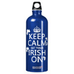 Keep Calm and get your Irish On (any bckgrd color) SIGG Traveler 1.0L Water Bottle