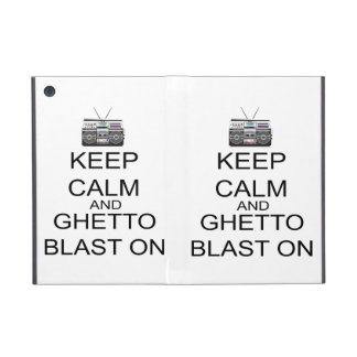 Keep Calm And Ghetto Blast On iPad Mini Cases