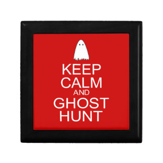 Keep Calm and Ghost Hunt Parody Trinket Boxes