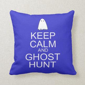 Keep Calm and Ghost Hunt (Parody) Throw Pillows