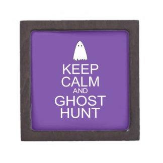 Keep Calm and Ghost Hunt Parody Premium Trinket Box