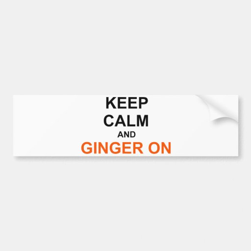 Keep Calm and Ginger On black orange Bumper Sticker