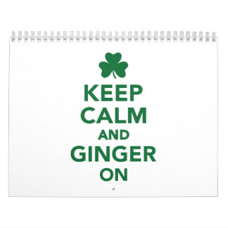 Keep calm and ginger on wall calendars