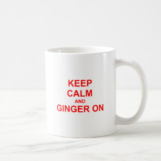Keep Calm and Ginger On orange pink red Classic White Coffee Mug