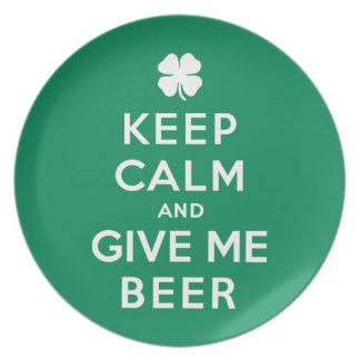 Keep Calm and Give Me Beer Party Plates