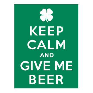 Keep Calm and Give Me Beer Postcard