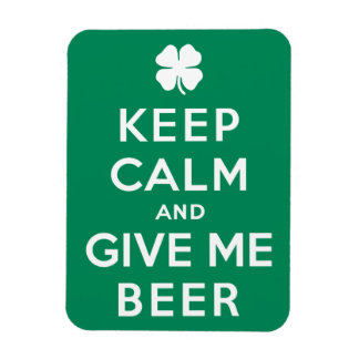 Keep Calm and Give Me Beer Rectangular Magnet