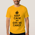 Keep Calm and Give Me Candy funny Halloween shirt