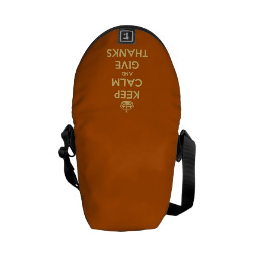 Keep Calm and Give Thanks Harvest Orange Courier Bag