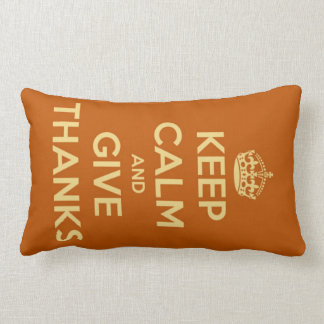 Keep Calm and Give Thanks Harvest Orange Pillow