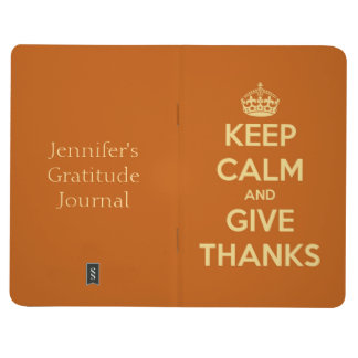 Keep Calm and Give Thanks Pumpkin Personalized Journal