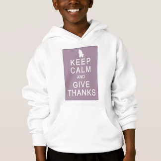 Keep Calm and Give Thanks with Praying Hands Hoodie