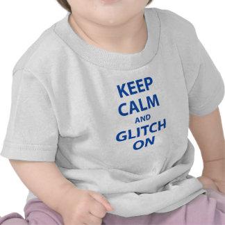 Keep calm and glitch t-shirt