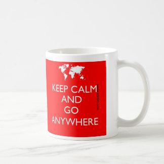 Keep Calm and Go Anywhere - - Mug