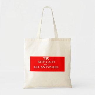 Keep Calm and Go Anywhere Tote Bag