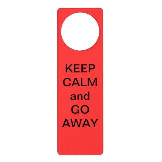 Keep Calm and Go Away Door Knob Hangers