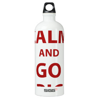 Keep Calm and Go Big Aluminum Water Bottle