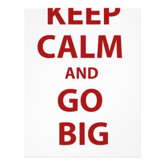 Keep Calm and Go Big Letterhead Design