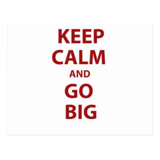 Keep Calm and Go Big Postcard