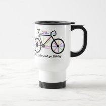 Keep Calm and go Biking, with Motivational Words Travel Mug