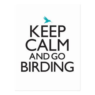 Keep Calm and Go Birding Postcard