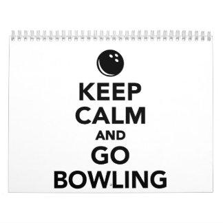 Keep calm and go bowling calendar