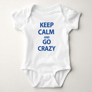 Keep calm and go crazy baby bodysuit