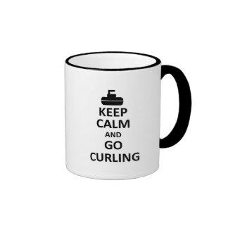 Keep calm and go Curling Ringer Mug
