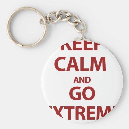 Keep Calm and Go Extreme Key Chain