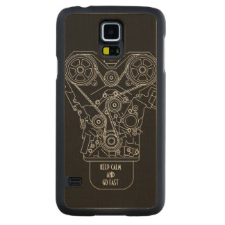 Keep Calm And Go Fast Car Race Mechanic Carved® Maple Galaxy S5 Slim Case