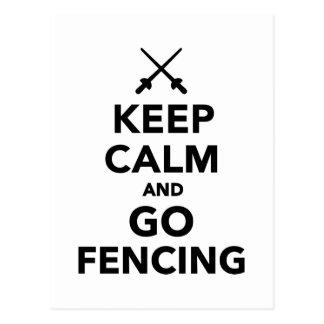 Keep calm and go Fencing Postcard