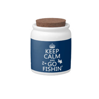 Keep Calm and Go Fishin' (in all colors) Candy Jar
