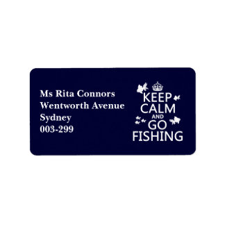 Keep Calm and Go Fishin' (in all colors) Personalized Address Label