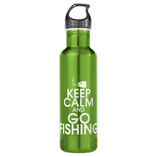 Keep Calm and Go Fishing Water Bottle